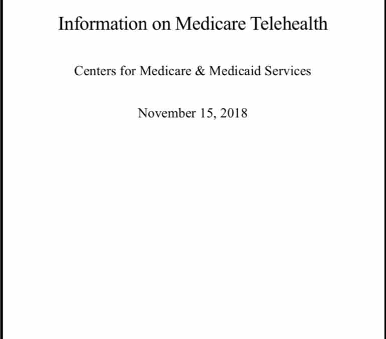 CMS Congressional Report: 85.4% of all Telehealth Providers Used Mental Health CPT Codes