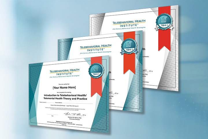 teleheatlh therapy certification