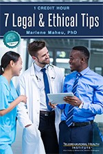 Telehealth: 7 Legal & Ethical Tips ebook cover